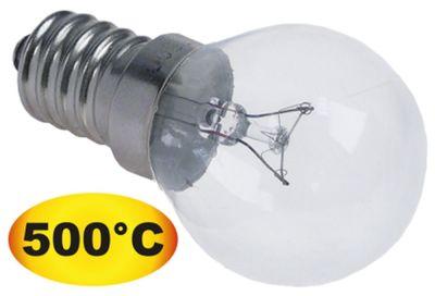 λάμπα πυρακτώσεως Μέγ. Θ 500°C υποδοχή E14  40W 240V ø 45mm Μ 75mm Μ φακού 48mm