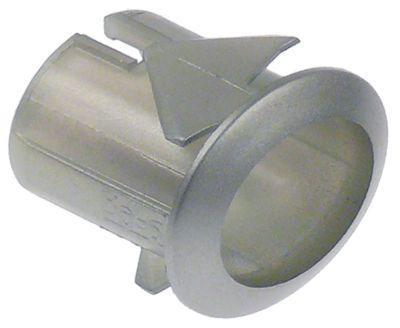 βάση μετρήσεις στερέωσης 20,6x16,4 mm ασημί θολωτό για κουμπιά πίεσης 13x17mm
