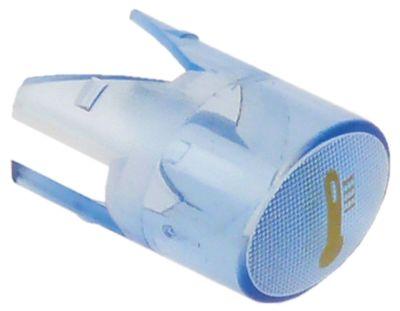 καπάκι ενδεικτικής λυχνίας μέγεθος 17x13 mm μπλε θερμόμετρο χρυσός
