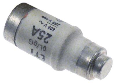 ασφάλεια μέγεθος D02  25A ονομαστική τιμή 250/400 V E18  ø 15mm Μ 36mm