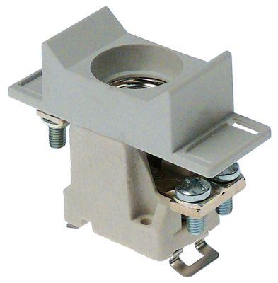 υποδοχή ασφάλειας κατάλληλη ασφάλεια D02  1 πόλου-πόλοι 63A ονομαστική τιμή 400V