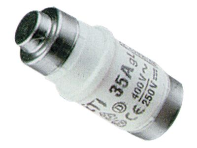 ασφάλεια μέγεθος D02  40A ονομαστική τιμή 250/400 V E18  ø 15mm Μ 36mm