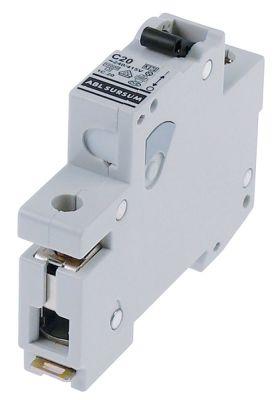 διακόπτης προστασίας αγωγών 1 πόλου 20A τύπος ενεργοποίησης C  ονομαστική τιμή 240/415 V