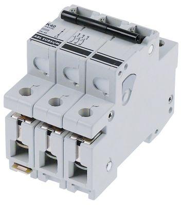 διακόπτης προστασίας αγωγών 3 πόλων τύπος ενεργοποίησης K  40A ονομαστική τιμή 400V