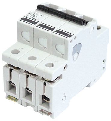 διακόπτης προστασίας αγωγών 3 πόλων τύπος ενεργοποίησης K  16A ονομαστική τιμή 400V