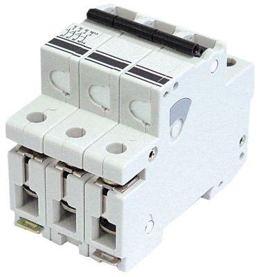 διακόπτης προστασίας αγωγών 3 πόλων τύπος ενεργοποίησης K  20A ονομαστική τιμή 400V