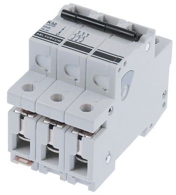 διακόπτης προστασίας αγωγών 3 πόλων τύπος ενεργοποίησης K  32A ονομαστική τιμή 400V