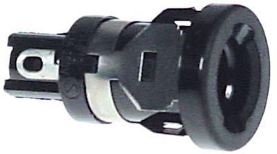 υποδοχή ασφάλειας κατάλληλη ασφάλεια ø5x20mm  ø 15,2mm 10A ονομαστική τιμή 250V