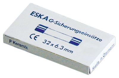 ασφάλεια βοηθητικού κυκλώματος μέγεθος ø6,3x32mm  20A αργής ενέργειας ονομαστική τιμή 250V