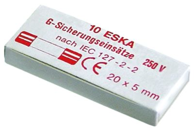 ασφάλεια βοηθητικού κυκλώματος μέγεθος ø5x20mm  1.6A ταχείας ενέργειας ονομαστική τιμή 250V