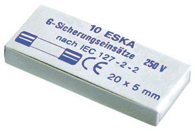 ασφάλεια βοηθητικού κυκλώματος μέγεθος ø5x20mm  0,5A ονομαστική τιμή 250V μέτριο στεφάνι
