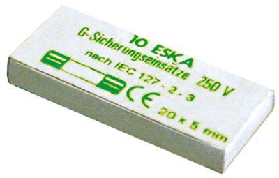 ασφάλεια βοηθητικού κυκλώματος μέγεθος ø5x20mm  16A ονομαστική τιμή 250V αργής ενέργειας