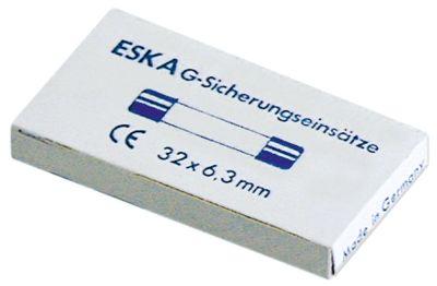 ασφάλεια βοηθητικού κυκλώματος μέγεθος ø6,3x32mm  6,3A μέτριο στεφάνι ονομαστική τιμή 250V