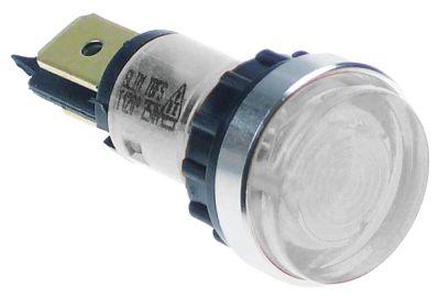 ενδεικτική λυχνία διαφανές 230V σύνδεσμος αρσενικό εξάρτημα 6,3mm ø 12mm