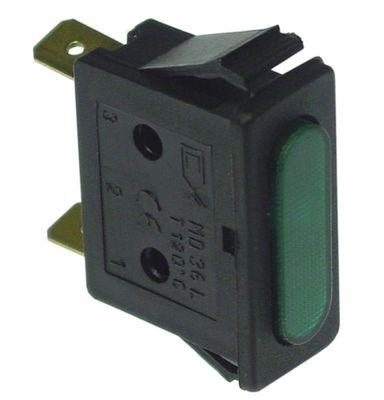ενδεικτική λυχνία πράσινο 230V μετρήσεις στερέωσης 30x11 mm
