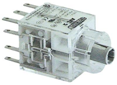 μπλοκ διακόπτη μανδάλωση 2NO/2NC  σύνδεσμος αρσενικό εξάρτημα 2,8mm φωτιζόμενο