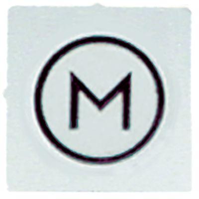 σύμβολο λευκό M