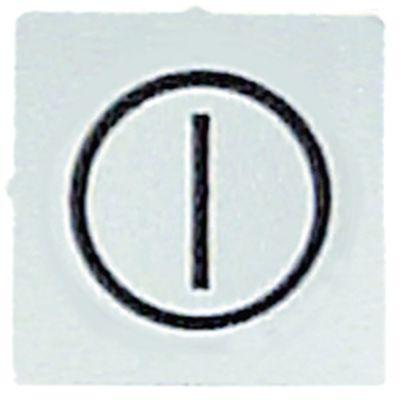 σύμβολο λευκό σε