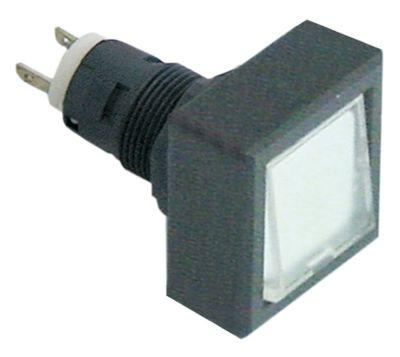 συσκευή σηματοδότησης διαστ. τοποθέτ. ø16/24x24mm 27x27  ανθρακί/διαφανές τετράγωνο υποδοχή T5.5K