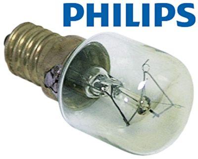 λάμπα πυρακτώσεως Μέγ. Θ 300°C υποδοχή E14  15W 230V ø 22mm Μ 47mm Μ φακού 20mm για λυχνία φούρνου