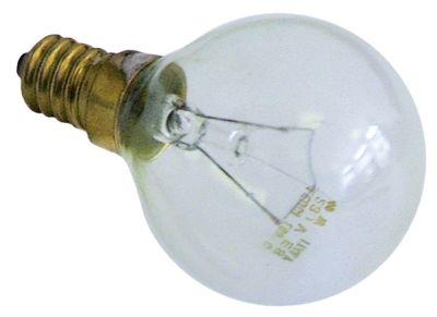 λάμπα πυρακτώσεως Μέγ. Θ 300°C υποδοχή E14  40W 230V ø 45mm Μ 75mm Μ φακού 50mm για λυχνία φούρνου