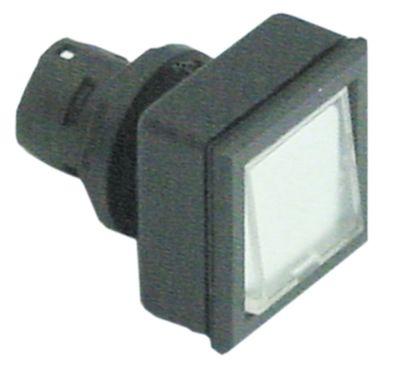 στιγμιαίος διακόπτης διαστ. τοποθέτ. ø16/24x24mm τύπος στιγμιαίο μαύρο/διαφανές  - τετράγωνο