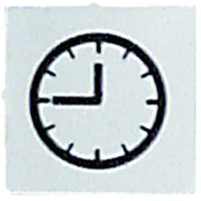 σύμβολο λευκό ρολόι