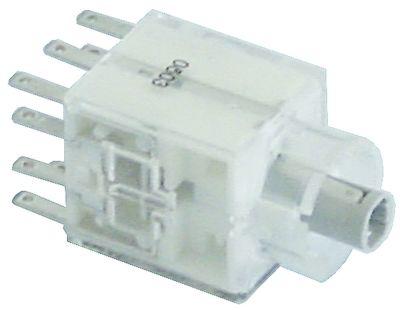 μπλοκ διακόπτη στιγμιαίο 2NO/2NC  σύνδεσμος αρσενικό εξάρτημα 2,8mm φωτιζόμενο