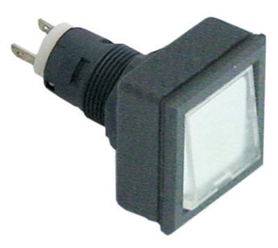 συσκευή σηματοδότησης διαστ. τοποθέτ. ø16/24x24mm 27x27  μαύρο/διαφανές τετράγωνο υποδοχή T5.5K