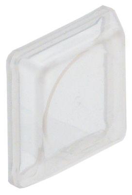 κάλυμμα σιλικόνης για στιγμιαίο διακόπτη διαφανές/άχρωμο οκταγωνικό Μ 28.4mm W 28.4mm