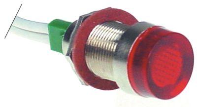 ενδεικτική λυχνία κόκκινο 400V σύνδεσμος καλώδιο 200mm ø 12mm
