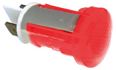 ενδεικτική λυχνία κόκκινο 400V σύνδεσμος αρσενικό εξάρτημα 6,3mm ø 16mm