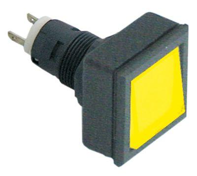συσκευή σηματοδότησης διαστ. τοποθέτ. ø16/24x24mm 27x27  μαύρο/κίτρινο τετράγωνο υποδοχή T5.5K