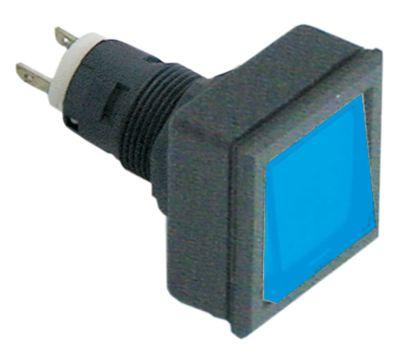 συσκευή σηματοδότησης διαστ. τοποθέτ. ø16/24x24mm 27x27  μαύρο/μπλε τετράγωνο υποδοχή T5.5K