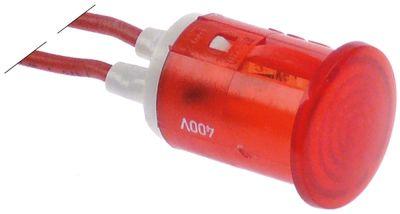 ενδεικτική λυχνία κόκκινο 230V μήκος καλωδίου 200mm ø 16mm