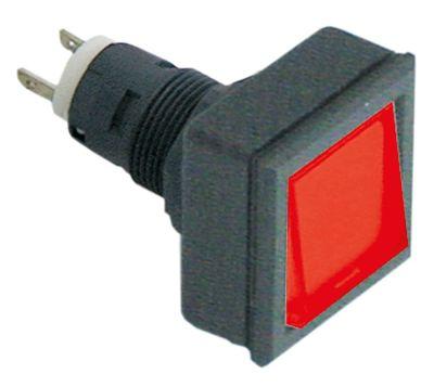 συσκευή σηματοδότησης ø16/24x24mm 27x27  μαύρο/κόκκινο τετράγωνο υποδοχή T5.5K