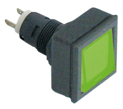 συσκευή σηματοδότησης διαστ. τοποθέτ. ø16/24x24mm 27x27  μαύρο/πράσινο τετράγωνο υποδοχή T5.5K