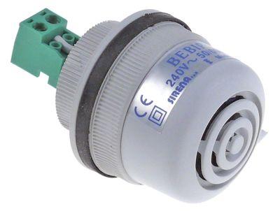 συσκευή συναγερμού 240VAC  ø 40mm Hmm 1 ούπα σπείρωμα στερέωσης M12  82dB προστασία IP54