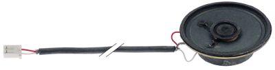 μεγάφωνο ø 50mm ενσωματωμένο βάθος 16mm 8Ω 0,5W σύνδεσμος βύσμα μήκος καλωδίου 340mm