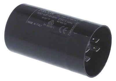 πυκνωτής εκκίνησης 100µF 250V 50/60 Hz κύκλος εργασίας 3s  διπλή σύνδεση 04P.47804S