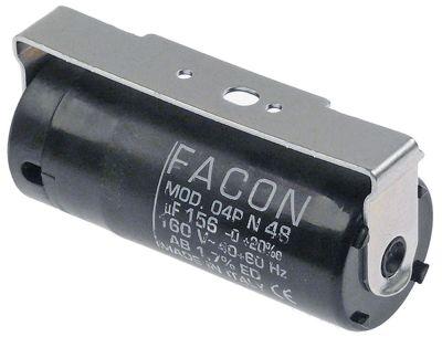 πυκνωτής εκκίνησης 160V 60Hz FACON  χωρητικότητα 156µF