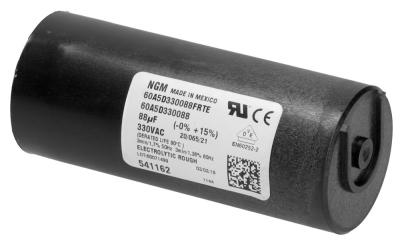 πυκνωτής εκκίνησης 330V 50Hz με αντιστάτη κύκλος εργασίας 3/1,7 % χωρητικότητα 88µF
