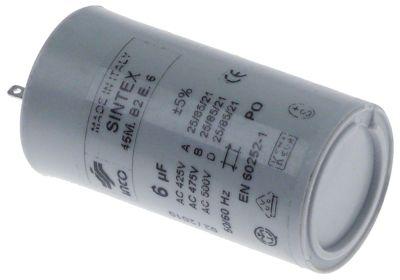 πυκνωτής λειτουργίας χωρητικότητα 6µF 425V συμπυκνωτής κυπέλλου ανοχή 5% 50/60 Hz