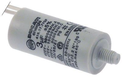 πυκνωτής χωρητικότητα 3µF 450V συμπυκνωτής κυπέλλου ανοχή 5% 50/60 Hz