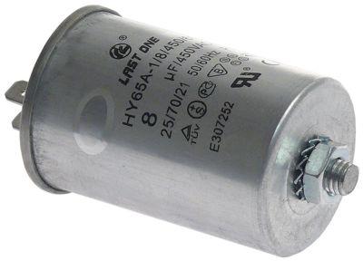 πυκνωτής λειτουργίας χωρητικότητα 8µF 450V με μεταλλική θήκη 50/60 Hz ø 40mm Μ 60mm μεταλλικό