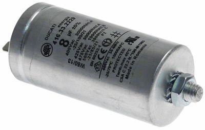 πυκνωτής λειτουργίας χωρητικότητα 8µF 400-500 V με μεταλλική θήκη ανοχή 5% ø 35mm Μ 72mm