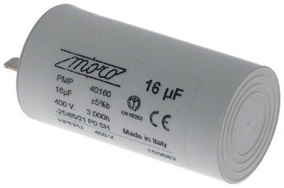 πυκνωτής λειτουργίας χωρητικότητα 16µF 400V συμπυκνωτής κυπέλλου ανοχή 5% 50/60 Hz