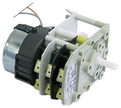 χρονοδιακόπτης BIGATTI  κινητήρες 1 θάλαμοι 3 χρόνος λειτουργίας 120s  230V ø άξονα 6x4,6 mm