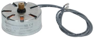 μοτέρ CDC  ø γραναζιού 5,4mm δόντια 12 230V κατεύθυνση περιστροφής αριστερά ø μοτέρ 37mm