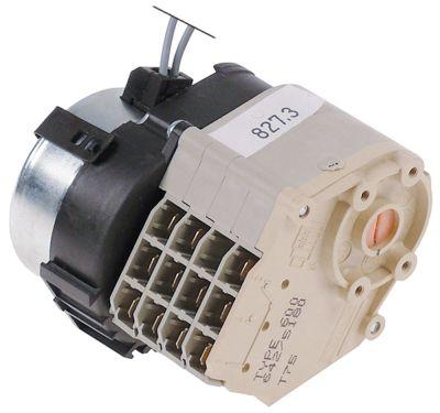 χρονοδιακόπτης CROUZET  κινητήρες 1 θάλαμοι 4 χρόνος λειτουργίας 120s  230V ø άξονα  -mm